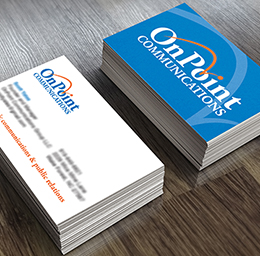 OnPoint Communications business cards